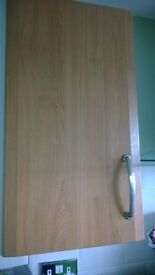 Kitchen Cupboard Doors and Drawer Fronts - cherry coloured various sizes