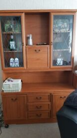 WALL UNIT/CUPBOARDS AND MATCHING BOOKCASE