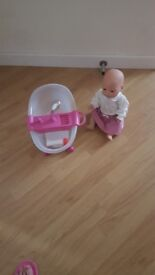 Baby annabell doll and light up bath