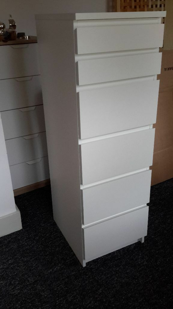 ikea malm tall boy 6 drawer chest of drawers perfect