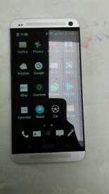 HTC one m7 unlocked silver excellent condition