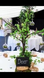 Wedding woodland decorations