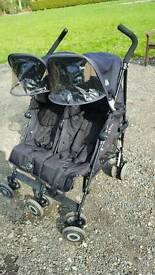 Maclaren double pushchair buggy stroller
