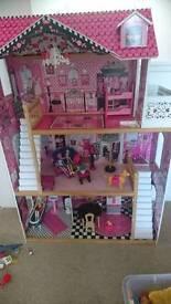 Kidcraft /barbie dolls house bundle bargain!!!!