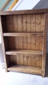 Bookcase rustic handcrafted chunky wood