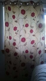 Beautiful lined curtains 180cm long 110cm wide