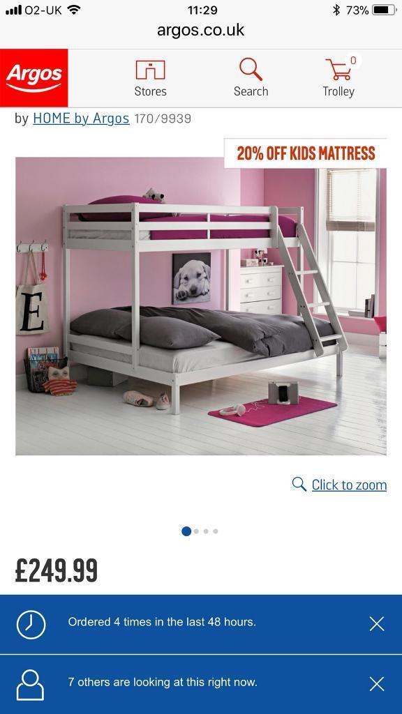 White triple bunk beds