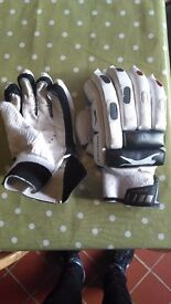 Cricket gloves for batting, used for less than a season