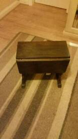 Antique small Oak twist top table