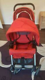 Baby buggy (Jane) Powertwin Pro Red