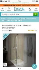 *glass shower screen brand new*