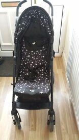 Joie midnight star burst stroller/pushchair