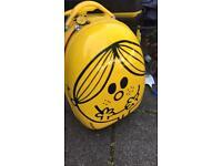 Little Miss Sunshine hard shell wheeled suitcase