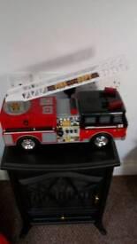 Flashing noise fire engine