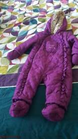 Unisex baby snowsuit lovly color 6 to 9 months