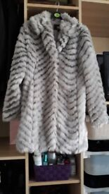 ladies fur jacket size 10
