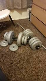 Weights barbell and dumbbell 32.5kg