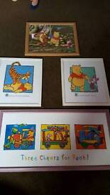 Disney Whinnie the pooh pictures and mirror