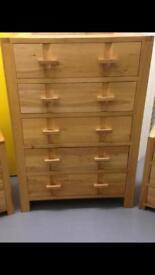 John Lewis Monterey Solid oak Large chest of drawers dresser sideboard - Laura Ashley habitat loaf