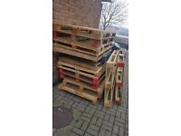 13 free wood Pallets for sale double