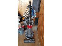 red DYSON DC25 MULTI FLOOR ROLLER BALL VACUUM CLEANER tools bagless 1 week guarantee no tex