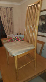 Three dining room chairs