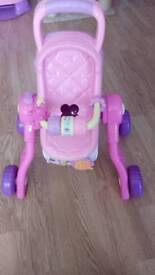 Vtech little love musical 3-in-1 pushchair, highchair and cot