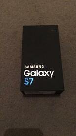 Samsung s7 black, unopened as iPhone prefered, BRAND NEW