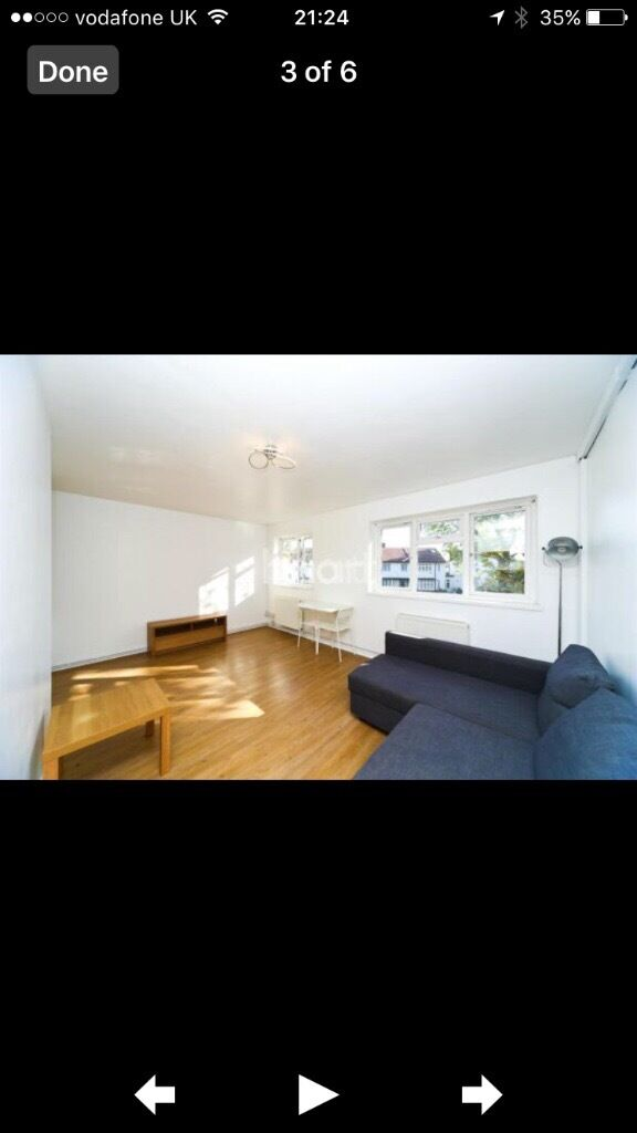 Large fully furnished studio flat to rent minute away from railway in chiswick grove park