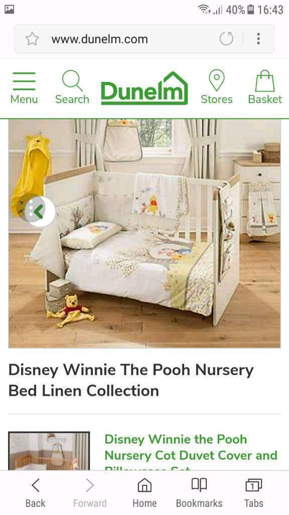 Winnie The Pooh Nursery Bed Set And Curtains In Antrim County Gumtree
