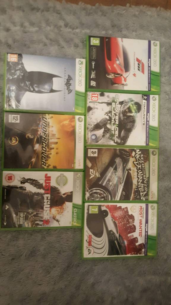 Xbox 360 Games bundle need for speed and more