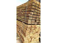 New softwood pressure treated sleepers -raised beds