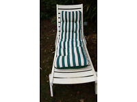 GARDEN LOUNGER WITH CUSHION