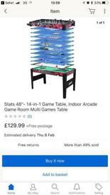 BRAND NEW 14 in 1 4ft games table