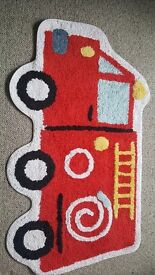 Fire engine rug