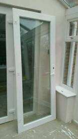 UPVC Door with full double glazed glass. Excellent Condition