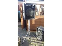 150 Watt speakers and stands and accessories