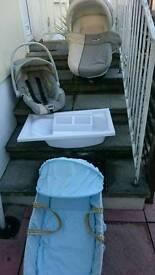 Baby basket, bath & car seat