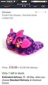 Boxed Furby Stompeez NEW (kids xmas slippers)