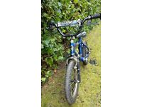 kids 14 inch wheel bike - ages c 3-5 - blue