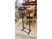 Wooden valet stand unique and elegant shaped - Good Condition