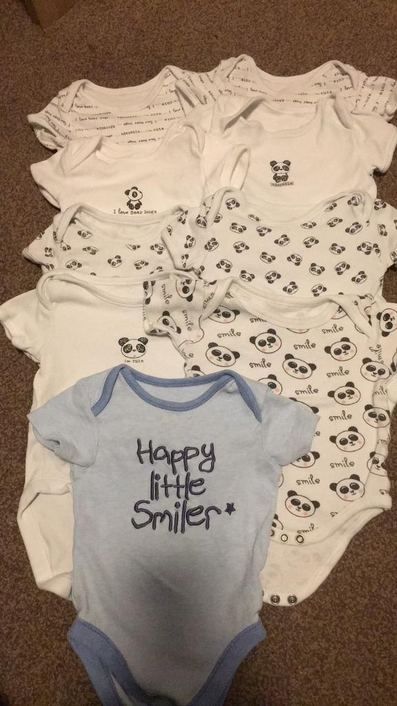 Baby Vests Age 6-9 months x14 items
