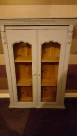wooden pine cupboard shabby chic