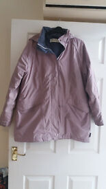 Regatta Waterproof, fleece lined Ladies size 14 coat, lilac colour