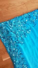 Blue 2 tone asian saree