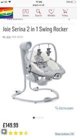 Joie serina 2-1 baby swing and rocker
