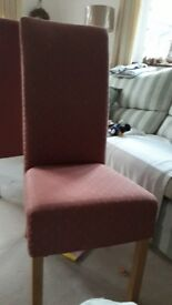 Six excellent condition padded dining chaird.Extra tall backs