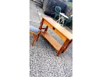 Wooden Stool and Table