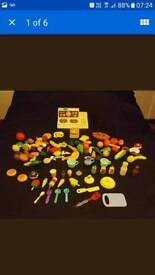 VINTAGE Fisher Price Cooker and various Food Drinks Accessories