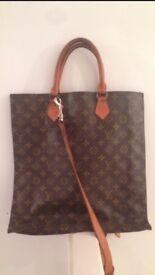 Authentic LOUIS VUITTON vintage sac plat monogram tote bag